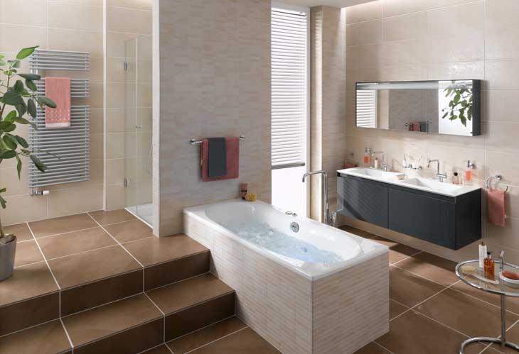 Toilette verkleidet in Eichenfurnier Badezimmer Ausstattung von Duravit