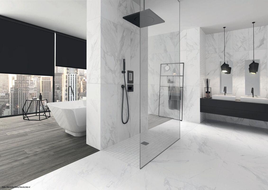 Marmor ist neuer Liebling des Baddesigns