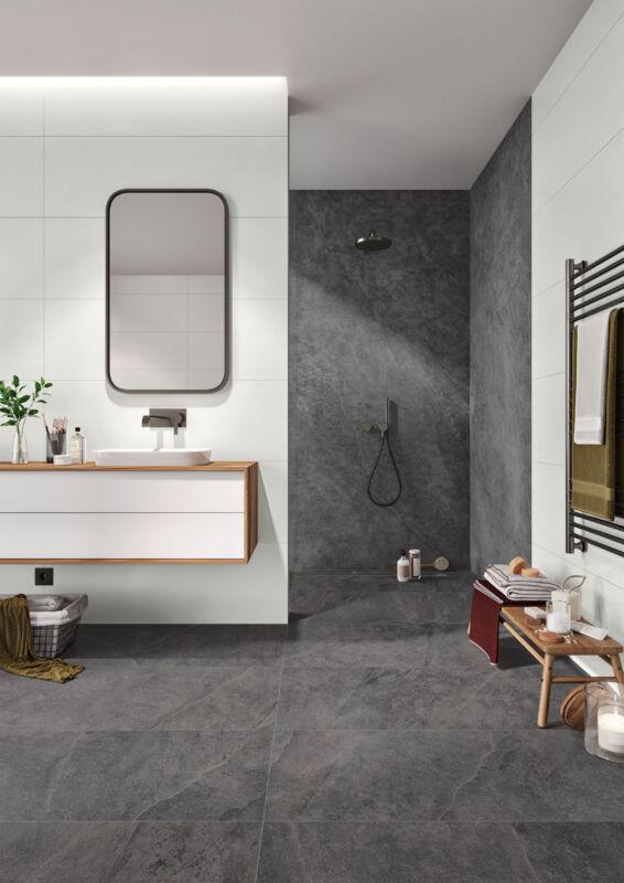 Das zweite Bad soll hochwertig und barrierefrei ausgestattet sein